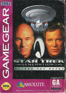 Star Trek Generations Beyond the Nexus Game Gear Cover