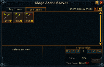Mage Arena Staves stock