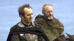 Stannis Baratheon y Davos Seaworth HBO