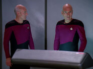 Jean-Luc Picard and his future-self double