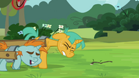 Snips and Snails pulling a carriage S3E05