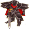 FE9 Black Knight General Sprite