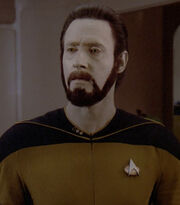 Data wearing a beard