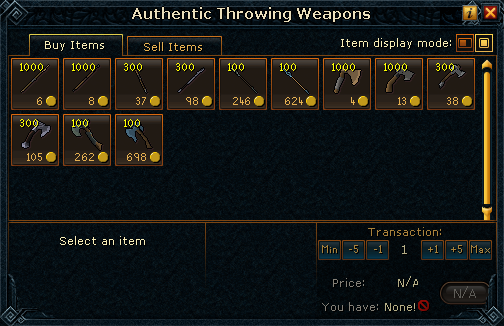 Authentic Throwing Weapons stock