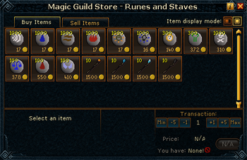 Magic Guild Store - Runes and Staves stock