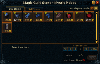 Magic Guild Store - Mystic Robes stock