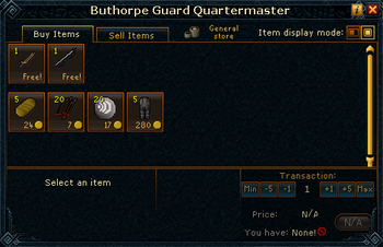 Burthorpe Guard Quartermaster stock