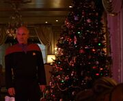 Picard with Christmas tree