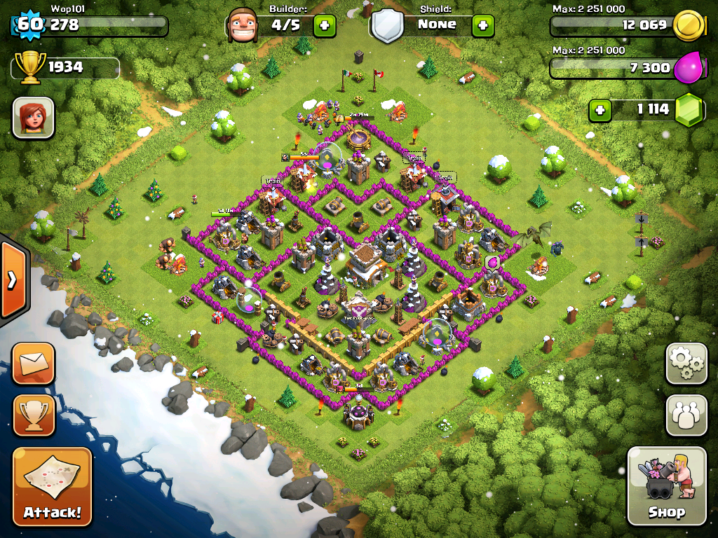 Clash of Clans Town Hall 8 Trophy Base