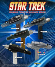 Art Asylum Star Trek phasers