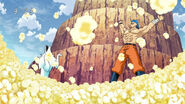 Toriko and Terry making the BB Corn into popcorn