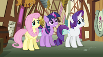 Rarity &amp; Fluttershy shaking heads S3E7