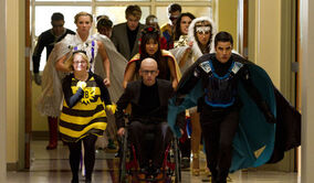 Glee s4e7 superherocharge