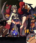 Skullgirls gamefan magazine cover by oh8-d5oelyg