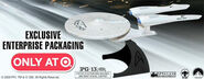 Target Star Trek DVD BR Enterprise disc holder promo