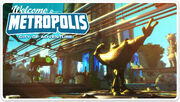 Ratchet &amp; Clank Full Frontal Assault Metropolis Postcard