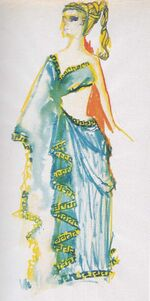 Carolyn Palomas gown design by William Ware Theiss