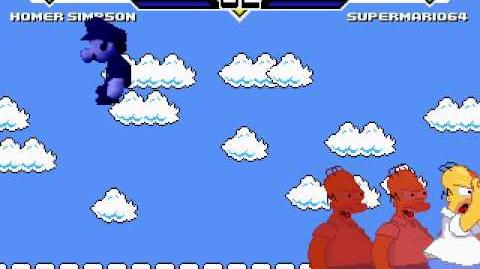 M.U.G.E.N Cheap Homer Simpson VS Cheap Super Mario 64.