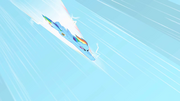 Rainbow Dash before the sonic rainboom S1E16