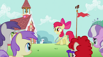 Apple Bloom has the hoop around her neck S2E06