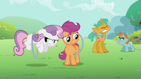 Sweetie Belle and Scootaloo hoop S2E6