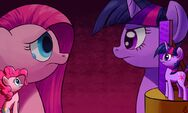 Twilight Sparkle and Pinkie Pie (Pinkamena Diane Pie) by artist-paradigmpizza