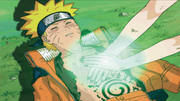 Tsunade curando Naruto