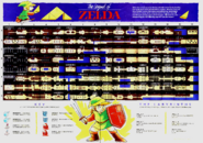 Nintendo Power Magazine V. 1 LOZ Map