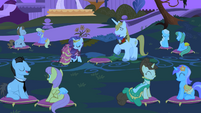 Rarity and Blueblood at the garden S1E26
