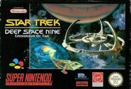 Star Trek DS9 Crossroads of Time SNES EU Cover