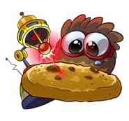 Brown Puffle Cookie Laser
