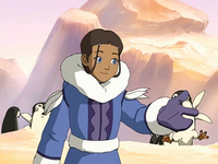 Katara gesturing