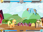 Applejack vs Rainbow Dash Sweet Apple Acres Fighting is Magic