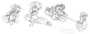 Applejack production sketch Fighting is Magic