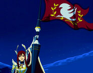 Erza and Farewell Flag
