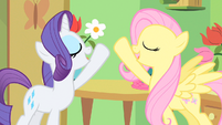 Rarity & Fluttershy hope to fly S1E20