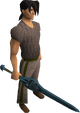Rune longsword equipped