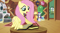 Fluttershy taking the books S3E10