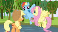 "Rainbow Dash ""hey, slackers!"" S03E10"