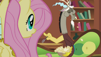 Fluttershy and Discord &quot;are you eating paper?&quot; S03E10