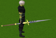 Staff of light equipped (yellow)