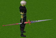 Staff of light equipped (red)