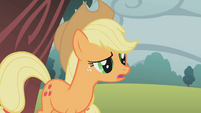 Applejack talks to Rarity S1E08