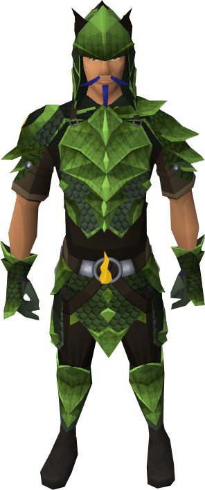 Full Guthix d'hide equipped male