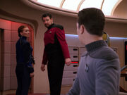 Riker promises to rescue Beverly