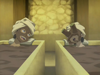 Katara and Toph at spa