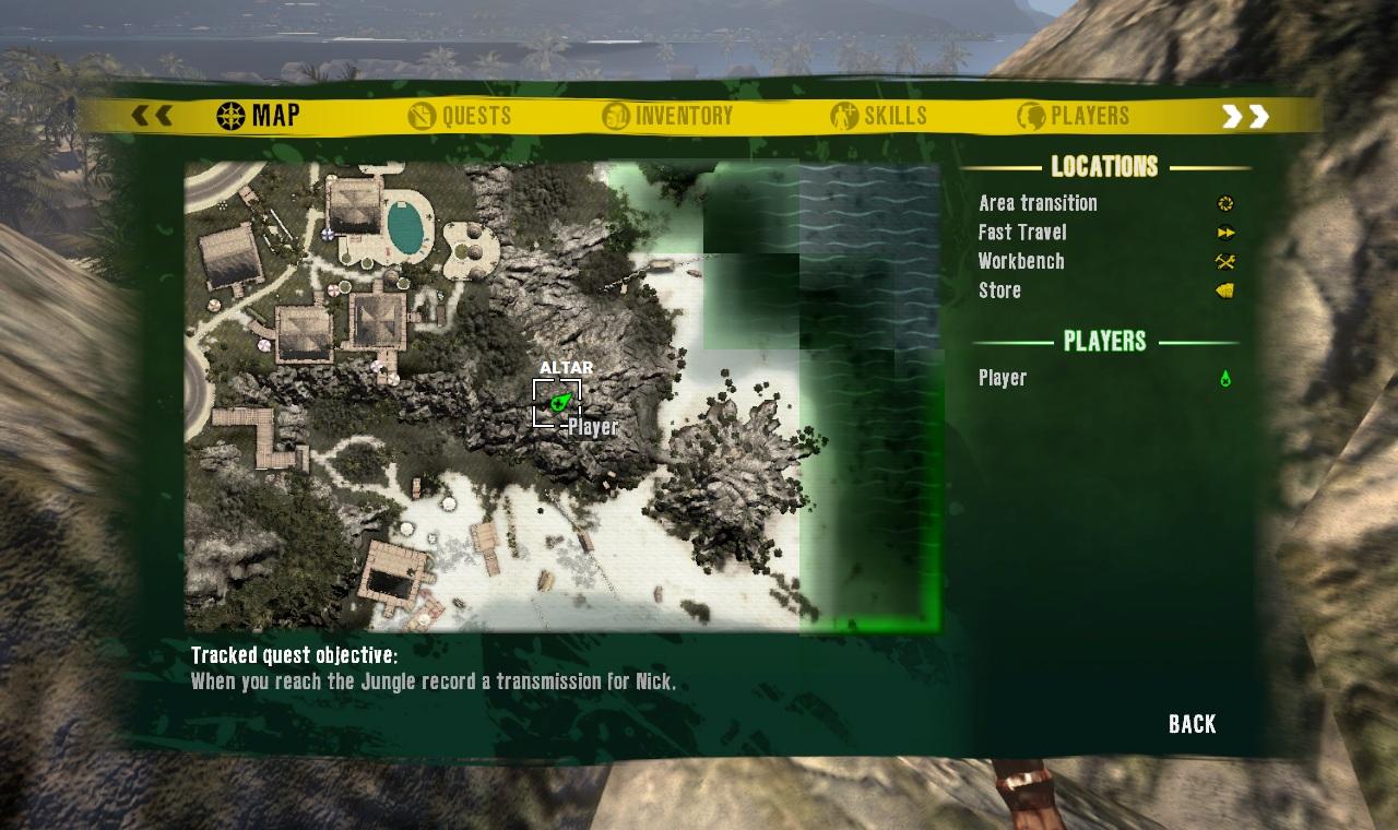Green Skull Altar Dead Island