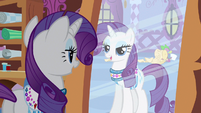 Rarity &amp; Spike in reflection S3E11