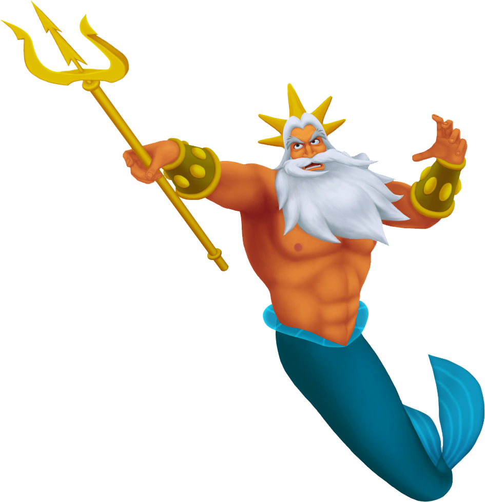 King triton s trident is notably used to activate the world s keyhole