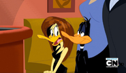Tina & Daffy at the Sunset Restaurant